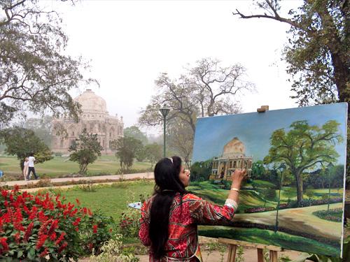 painter_lodhi_tomb_new_delhi